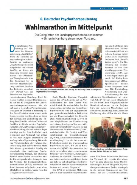 6. Deutscher Psychotherapeutentag: Wahlmarathon im Mittelpunkt