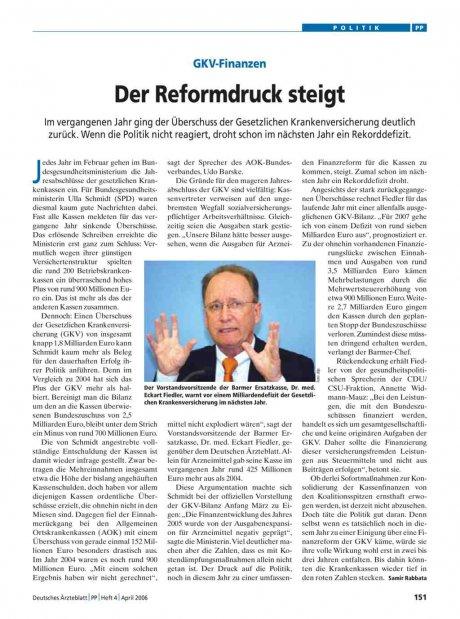 GKV-Finanzen: Der Reformdruck steigt