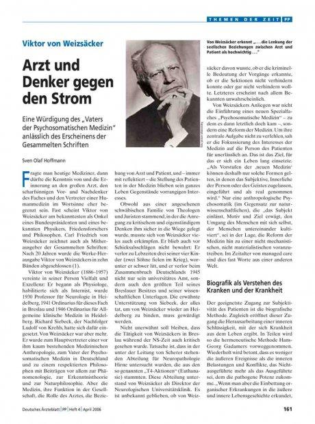 Viktor von Weizsäcker: Arzt und Denker gegen den Strom