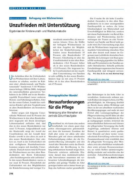 Befragung von Wöchnerinnen: Unzufrieden mit Unterstützung