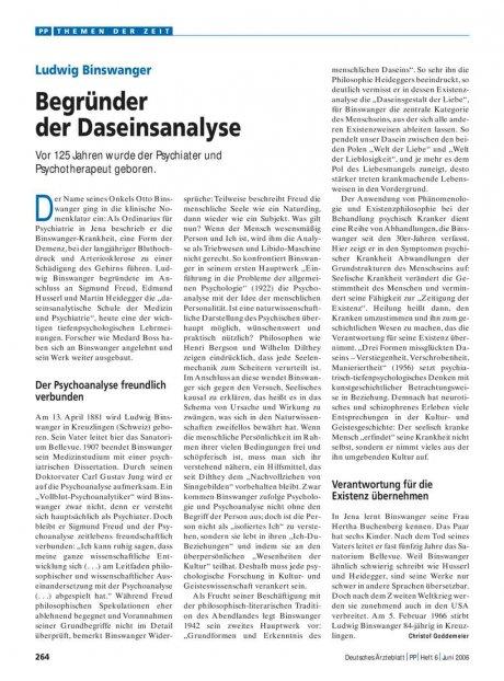 Ludwig Binswanger: Begründer der Daseinsanalyse