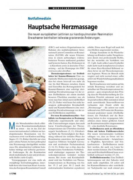 Notfallmedizin: Hauptsache Herzmassage