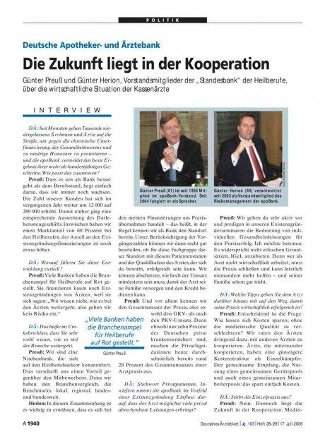 Deutsche Apotheker- und Ärztebank: Die Zukunft liegt in der Kooperation