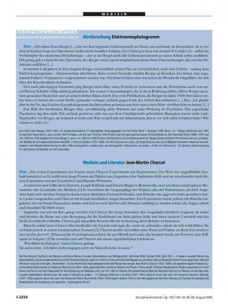 Medizingeschichte(n): Medizin und Literatur – Jean-Martin Charcot