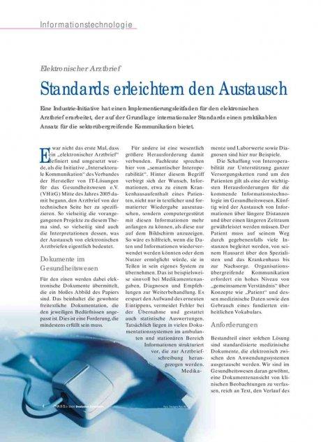 Elektronischer Arztbrief: Standards erleichtern den Austausch