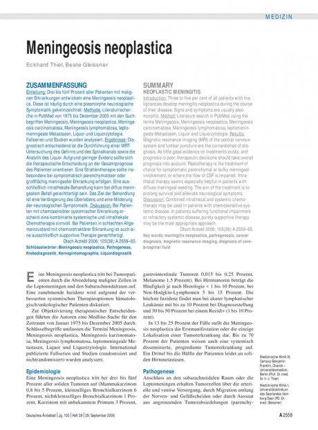 Meningeosis neoplastica