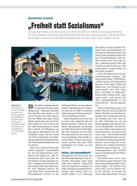 """Ärzteprotest in Berlin: """"Freiheit statt Sozialismus"""""""