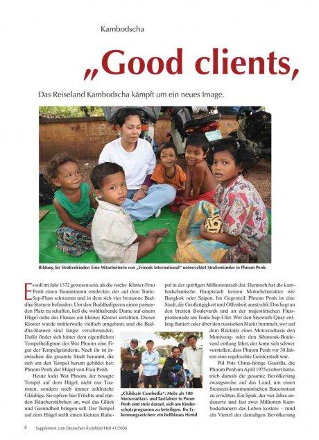 """Kambodscha: """"Good clients, good business"""""""