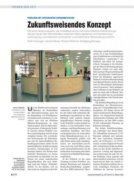Präklinik mit integrierter Aufnahmestation: Zukunftsweisendes Konzept