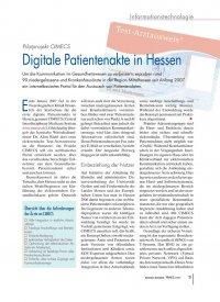 Pilotprojekt CIMECS: Digitale Patientenakte in Hessen