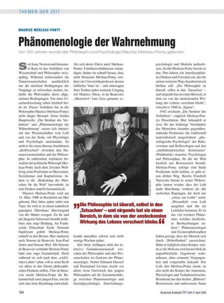 Maurice Merleau-Ponty: Phänomenologie der Wahrnehmung