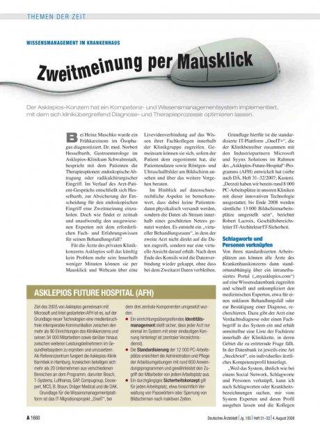 Wissensmanagement im Krankenhaus: Zweitmeinung per Mausklick