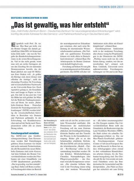"""Deutsches Demenzzentrum in Bonn: """"Das ist gewaltig, was hier entsteht"""""""