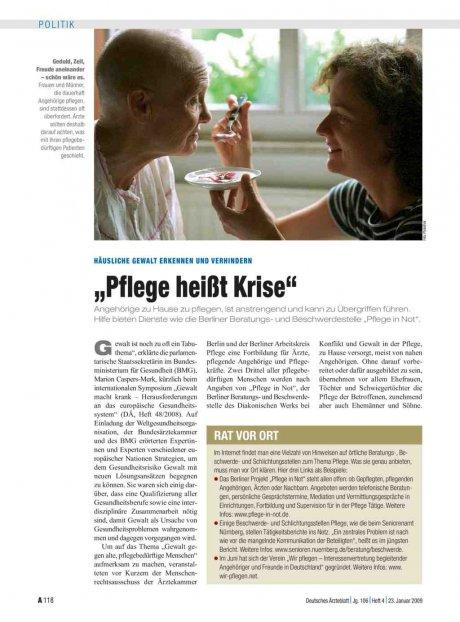 """Häusliche Gewalt erkennen und verhindern: """"Pflege heißt Krise"""""""