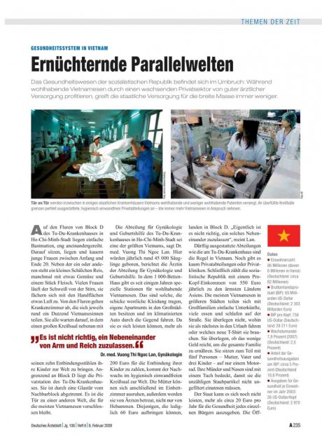 Gesundheitssystem in Vietnam: Ernüchternde Parallelwelten