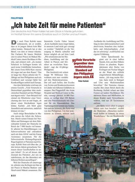 """Philippinen: """"Ich habe Zeit für meine Patienten"""""""