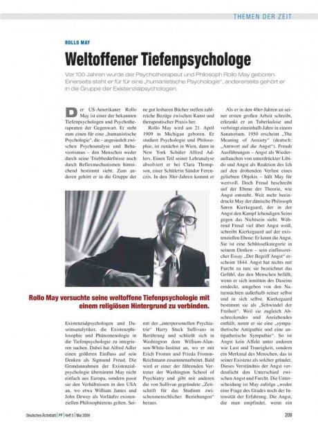 Rollo May: Weltoffener Tiefenpsychologe