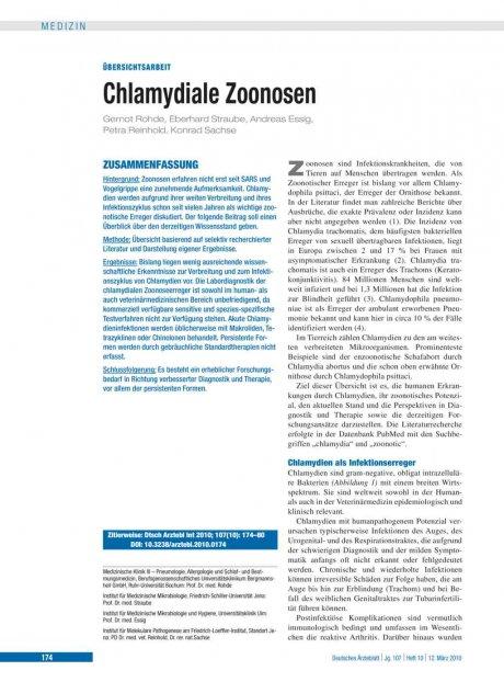 Chlamydiale Zoonosen