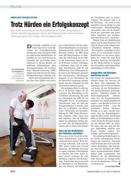 Ambulante Rehabilitation: Trotz Hürden ein Erfolgskonzept