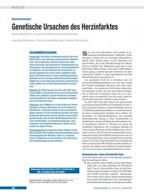 Genetische Ursachen des Herzinfarktes