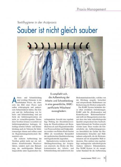Textilhygiene in der Arztpraxis: Sauber ist nicht gleich sauber