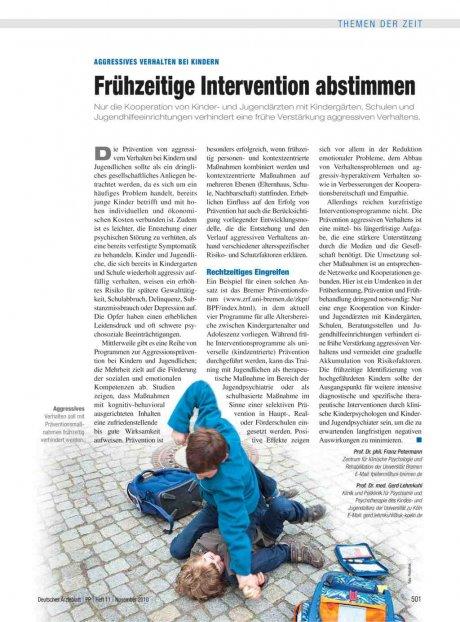 Aggressives Verhalten bei Kindern: Frühzeitige Intervention abstimmen