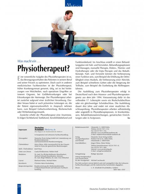 Was macht ein ... Physiotherapeut?