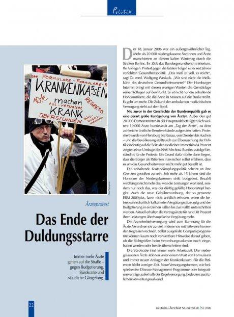 Ärzteprotest: Das Ende der Duldungsstarre