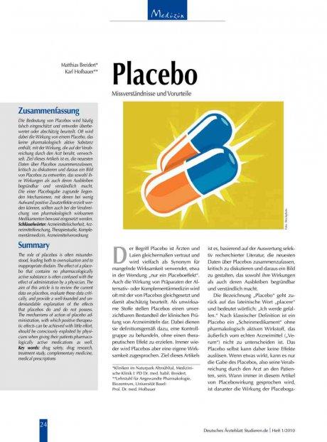 Placebo: Missverständnisse und Vorurteile