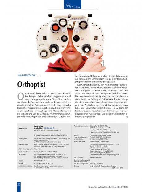 Was macht ein . . .: Orthoptist