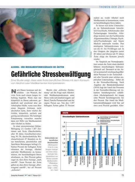 Alkohol- und Medikamentenmissbrauch bei Ärzten: Gefährliche Stressbewältigung