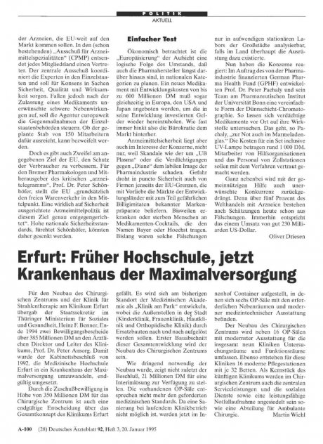Erfurt: Früher Hochschule, jetzt Krankenhaus der Maximalversorgung