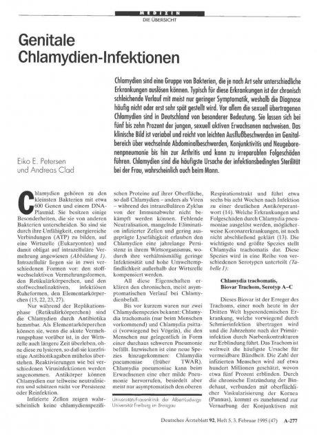 Genitale Chlamydien-Infektionen