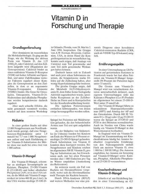 Vitamin D in Forschung und Therapie