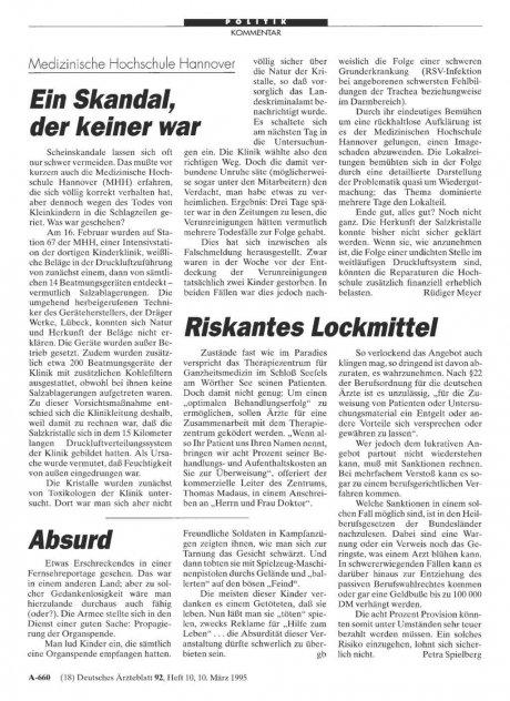 Medizinische Hochschule Hannover: Ein Skandal, der keiner war