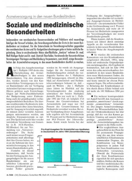 Arzneiversorgung in den neuen Bundesländern: Soziale und medizinische Besonderheiten