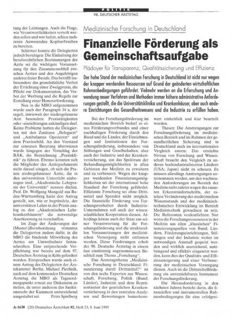 Medizinische Forschung in Deutschland: Finanzielle Förderung als Gemeinschaftsaufgabe