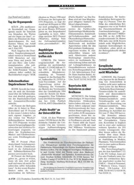 """""""Public Health"""" an der Universität Ulm"""