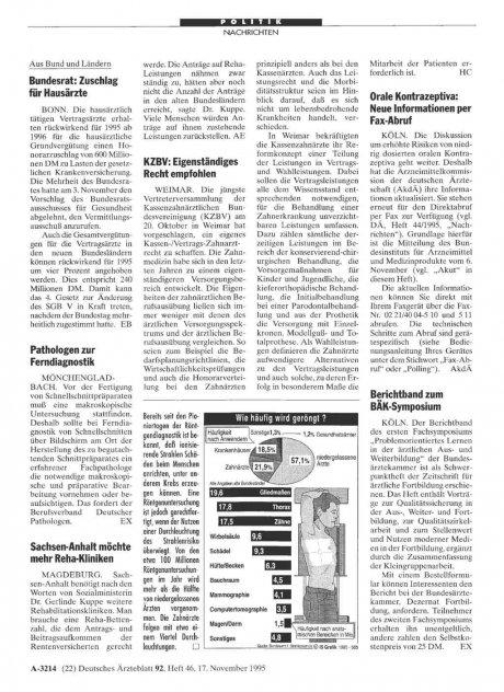 Orale Kontrazeptiva: Neue Informationen per Fax-Abruf