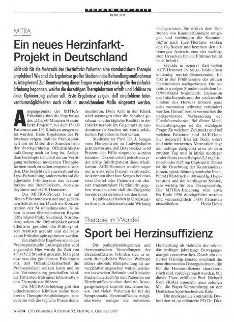 MITRA: Ein neues Herzinfarkt-Projekt in Deutschland