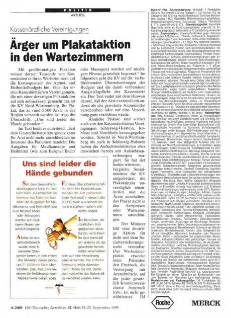 Kassenärztliche Vereinigungen: Ärger um Plakataktion in den Wartezimmern