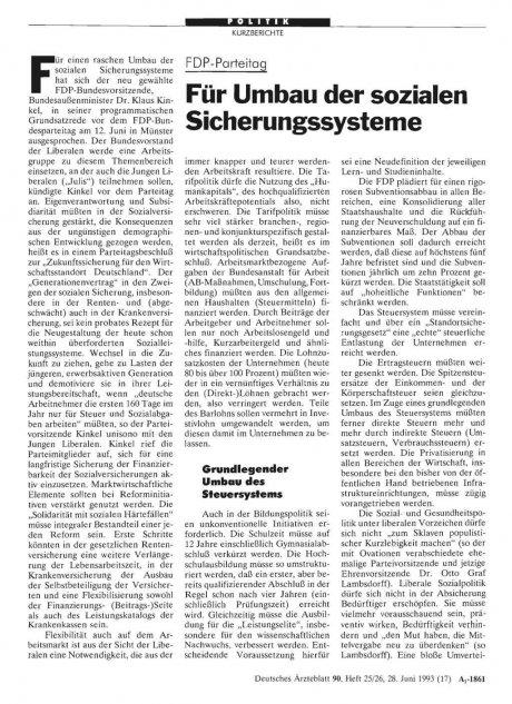 FDP-Parteitag: Für Umbau der sozialen Sicherungssysteme