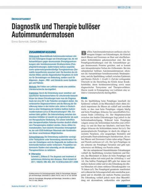 Diagnostik und Therapie bullöser Autoimmundermatosen