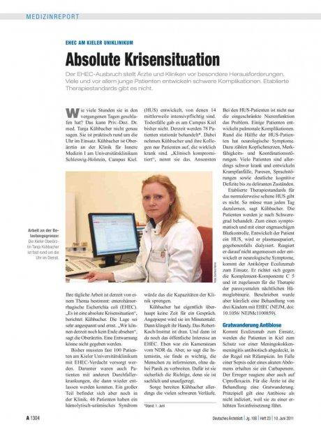 EHEC am Kieler Uniklinikum: Absolute Krisensituation