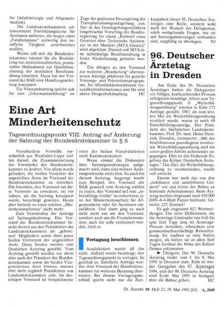 96. Deutscher Ärztetag in Dresden