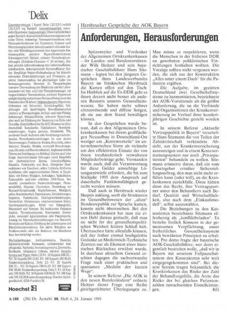 Hersbrucker Gespräche der AOK Bayern: Anforderungen, Herausforderungen