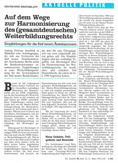 Auf dem Wege zur Harmonisierung des (gesamtdeutschen) Weiterbildungsrechts