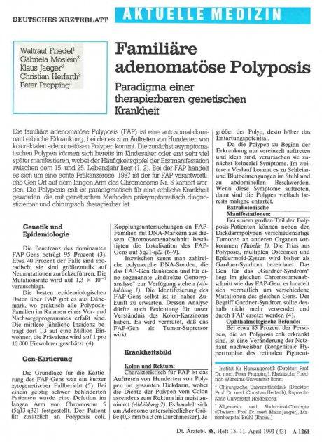 Familiäre adenomatöse Polyposis