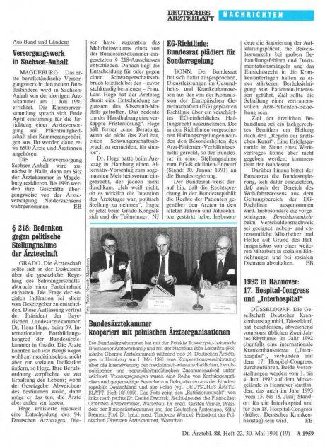 "1992 in Hannover: 17. Hospital-Congress und ""Interhospital"""