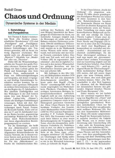 Chaos und Ordnung: Dynamische Systeme in der Medizin